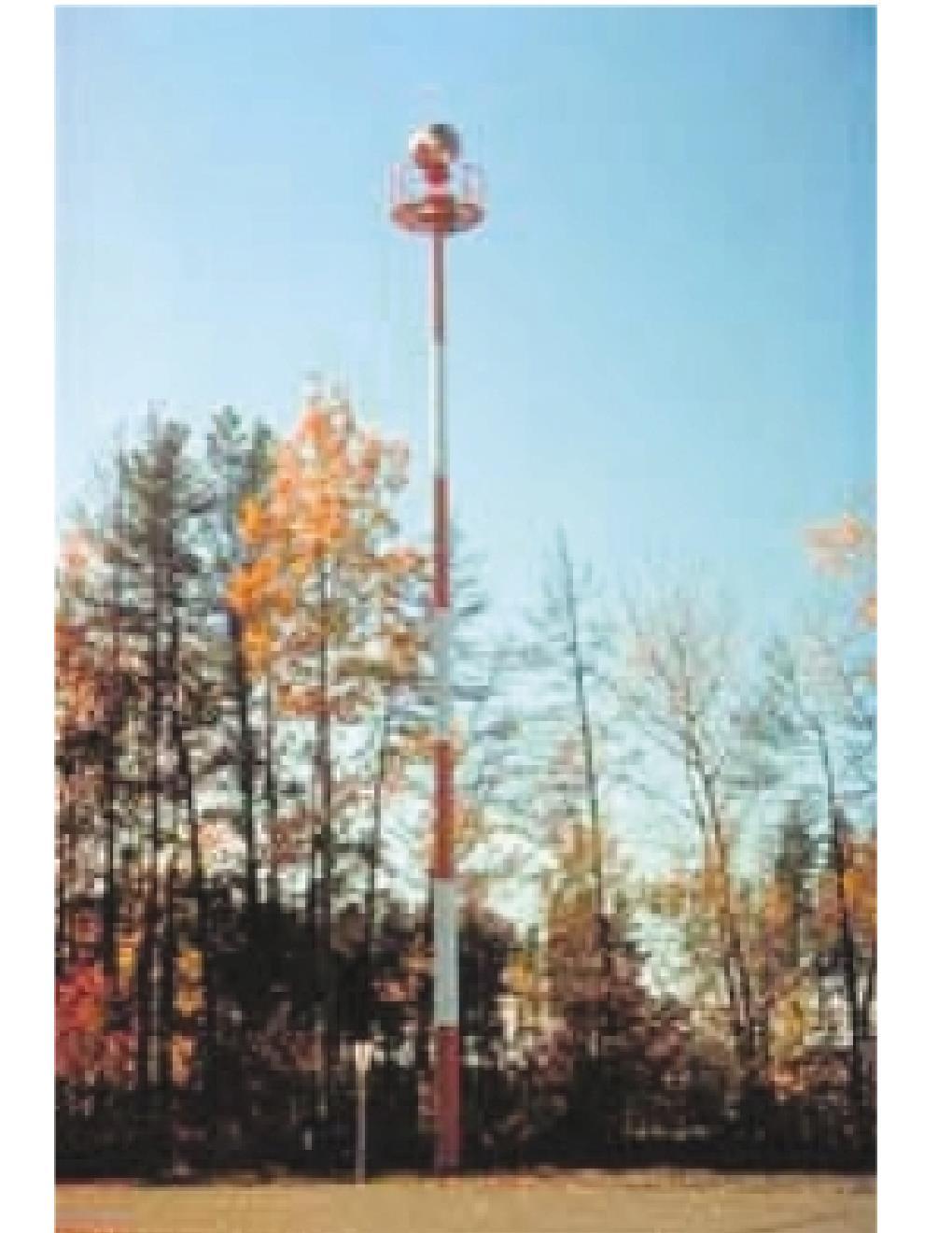 Flashing rotating beacon