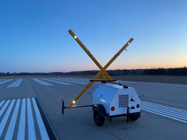 Lighted runway visual aid