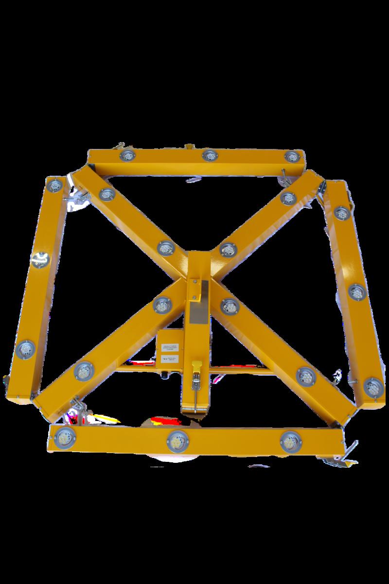 Portable runway closure marker ready for setup